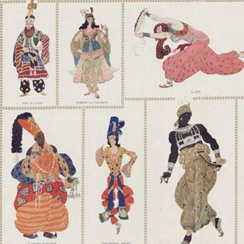 Léon Bakst Costumes de Shéhérazade Programme officiel des Ballets russes Théâtre des Champs-Élysées 1920©Gallica-BnF