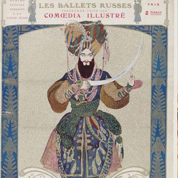 Programme officiel de la saison russe à l'opéra, 1910 © Gallica-BnF