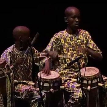 Concert filmé Tambours sabar du Sénégal