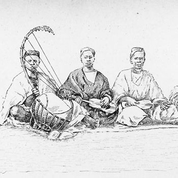 Griots, musiciens du haut Sénégal © NY Public Library, digital collections