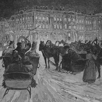 Saint-Pétersbourg, place du palais d'hiver, par René Lacker © Österreichische Nationalbibliothek