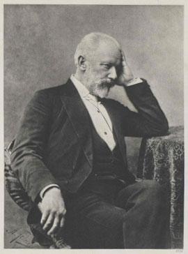 Portrait de Piotr Ilitch Tchaïkovski. Österreichische Nationalbibliothek