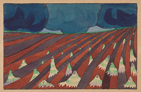 Le Sacre du printemps, illustration de Léon Bakst © NY Public Library, digital collections