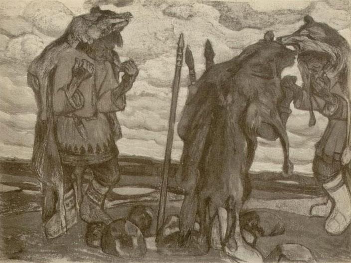 Représentation de l'Ancienne Russie, par Nicolas Roerich © NY Public Library, digital collections