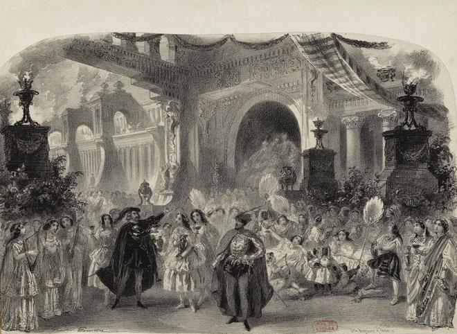 Faust, acte 5, tableau, le palais de Mephistopheles © Gallica - BnF