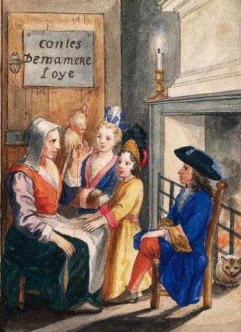 Frontispice pour les Contes de ma mère l'Oye © The Pierpont Morgan Library