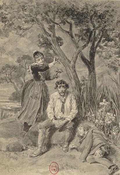 L'Arlésienne, estampe de Adrien Marie pour le drame d'Alphonse Daudet © Gallica - BnF