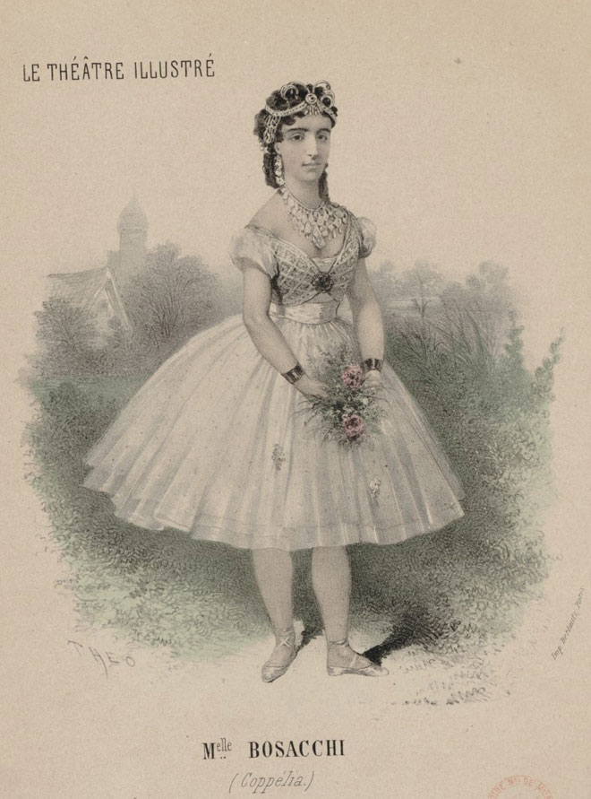 Mademoiselle Bosacchi dans Coppelia © Gallica - BnF