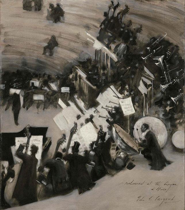 Répétition de l'orchestre Pasdeloup au Cirque d'hiver par John Singer Sargent © Museum of Fine Arts, Boston