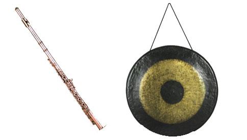 La flûte traversière et le tam-tam