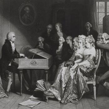 Mozart à Vienne (peint par Edouard Hamman, gravé par A. Cornillet) © Gallica - BnF