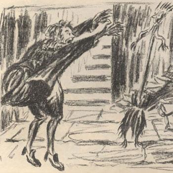 Ernst Barlach Illustration du poème de Goethe L'Apprenti sorcier 1924 © Frankfurter Goethe Haus