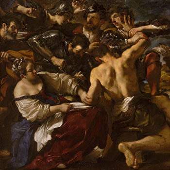 Samson capturé par les Philistins par Guercino © Metropolitan Museum