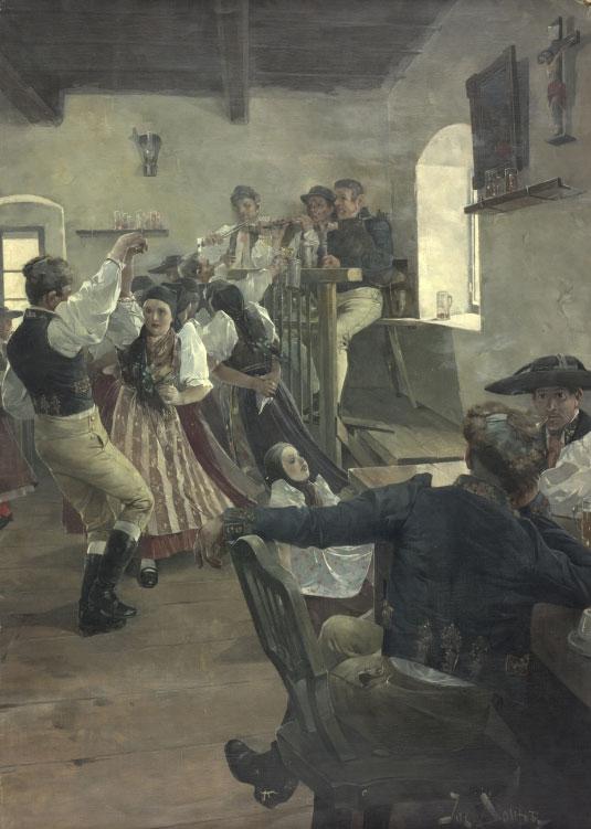Danse dans une taverne de Bohême © Österreichische Nationalbibliothek