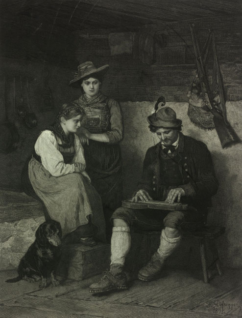 Joueur de cithare de Bohême © Österreichische Nationalbibliothek