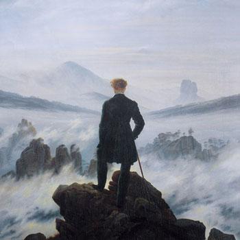 Le Voyageur au-dessus de la mer de nuages, par Caspar David Friedrich © Hamburger Kunsthalle