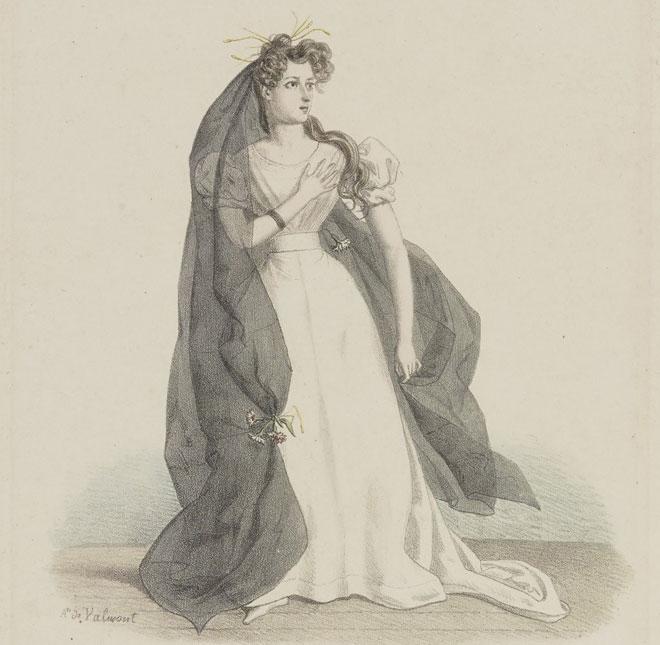 Harriet Smithson dans le rôle d'Ophelia dans Hamlet © Gallica-BnF