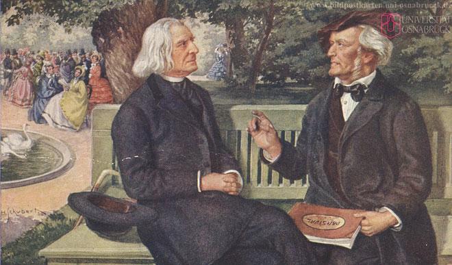 Liszt et Wagner © Historische Bildpostkarten - Universität Osnabrück