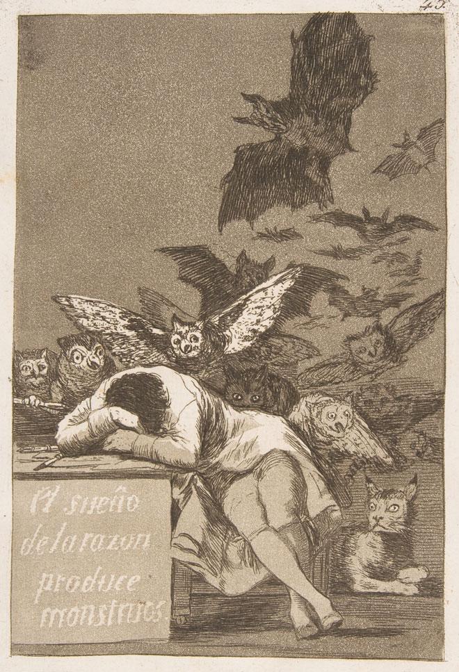 Los Caprichos, Le Sommeil de la raison engendre des monstres, par Francisco de Goya © Metropolitan Museum