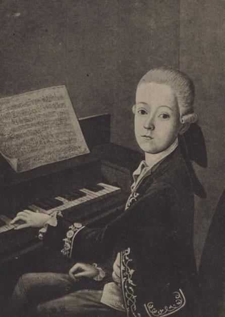 Jeune Mozart au clavier, 1768 © Gallica-BnF
