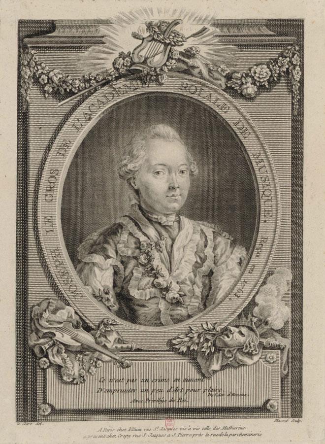 Joseph Le Gros de l'Académie royale de musique, reçu en 1763 © Gallica-BnF
