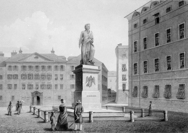 Monument Mozart à Salzbourg © Österreichische Nationalbibliothek
