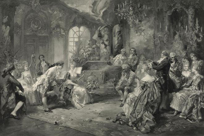 Mozart à la cour de Marie-Antoinette © Österreichische Nationalbibliothek