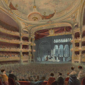Académie impériale de musique (Théâtre de l'Opéra) © NY Public Library, digital collections