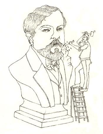Illustration Les grandes figures Debussy © Julie Scobeltzine