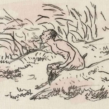 L'Après-midi d'un faune, frontispice d'Édouard Manet © Gallica-BnF_LQ