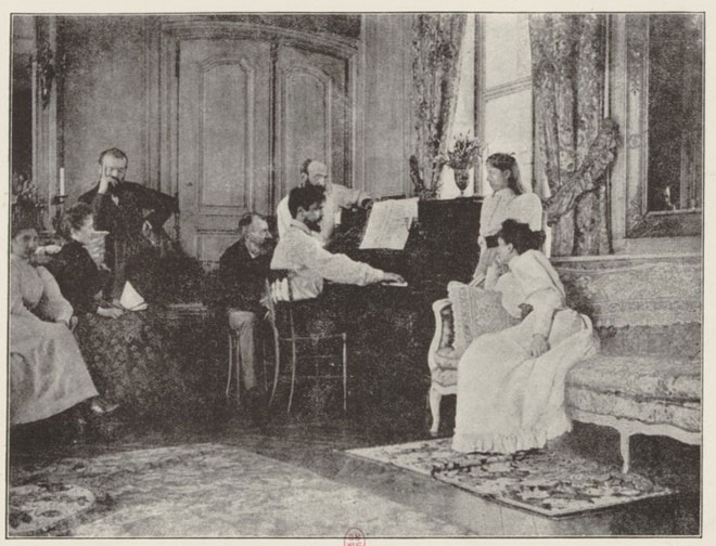 Claude Debussy à Luzancy chez Ernest Chausson © Gallica-BnF