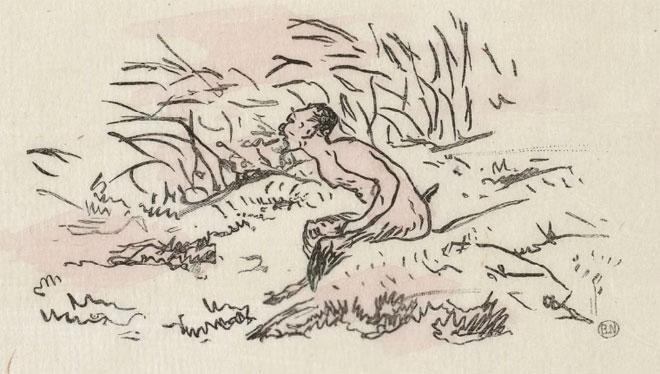 L'Après-midi d'un faune, frontispice d'Édouard Manet © Gallica-BnF