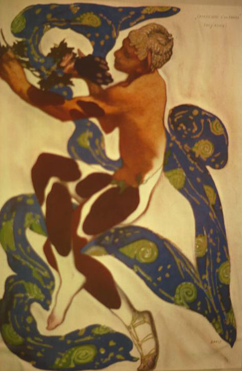 Nijinski dans le Prélude à l'après-midi d'un faune de Debussy, d'après un poème de Stéphane Mallarmé © NY Public Library, digital collections