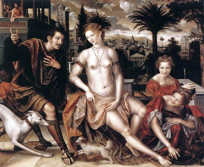 David et Bethsabée, par Jan Matsys, 1562 © Musée du Louvre