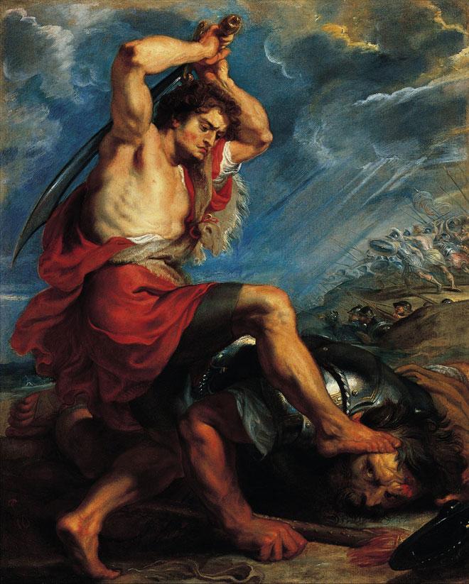 David terrassant Goliath, par Peter Paul Rubens © Norton Simon Museum, Californie