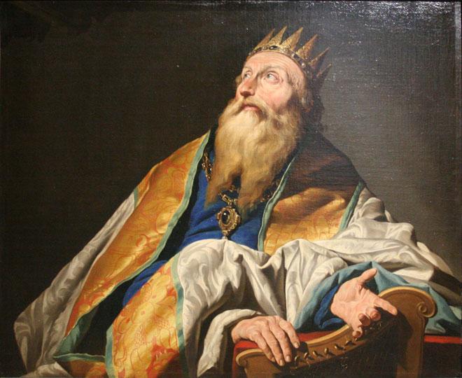 Le roi David, par Matthias Stomer © Musée des beaux-arts de Marseille