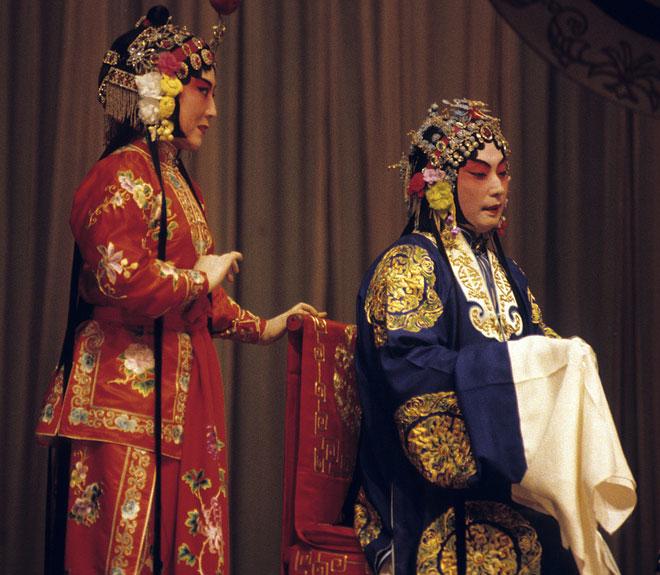 Acteurs de l'opéra de Pékin © Library of Congress