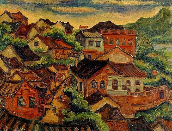 Tamsui, peinture de Tan Ting-Pho, 1933. Musée national des beaux-arts de Taïwan