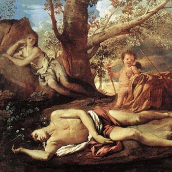 Écho et Narcisse, par Nicolas Poussin © Musée du Louvre