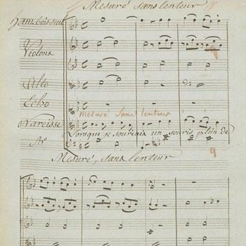 Écho et Narcisse, partition autographe de Gluck © Gallica-BnF