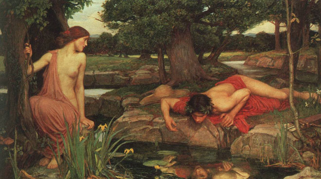 Écho et Narcisse, par John William Waterhouse, 1903 © Walker Art Gallery