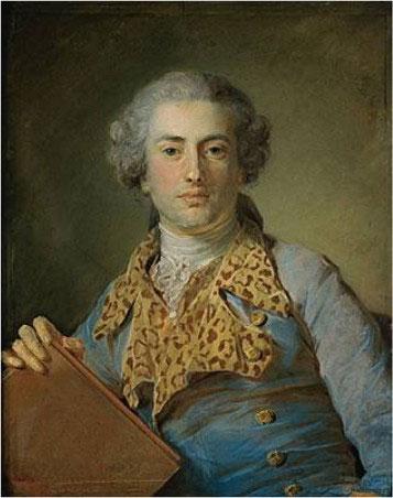 Jean-Georges Noverre (chorégraphe de Écho et Narcisse), par Jean-Bapstiste Perronneau © Musée du Louvre