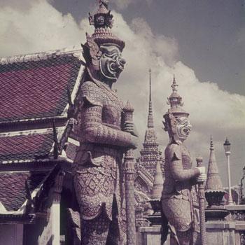 Grand palais, Bangkok, photographie de Franz Grasser © SLUB - Deutsche Fotothek