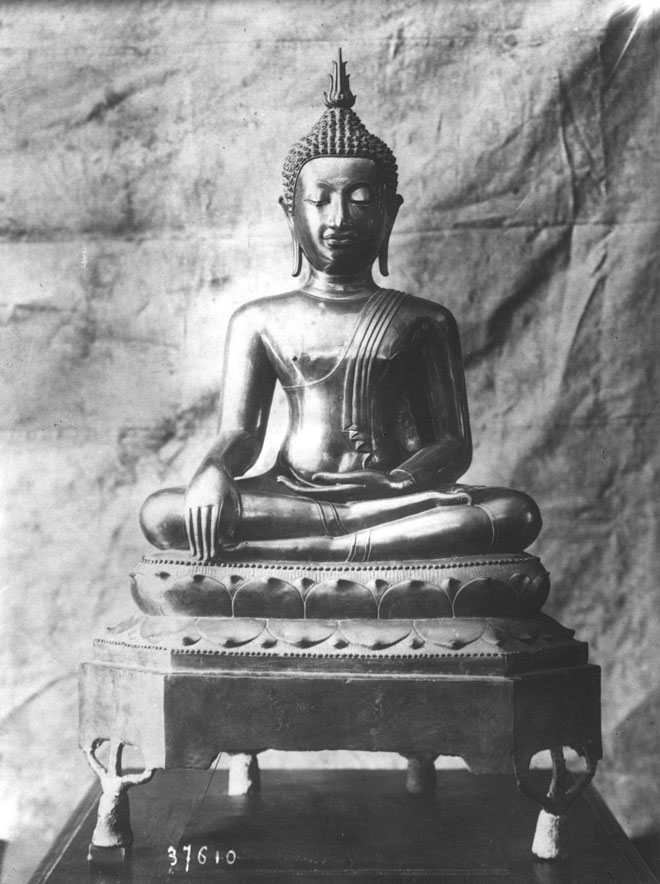 Bouddha en bronze datant de 1000 ans, offert par le roi de Siam au tsar © Gallica-BnF