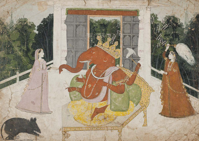 Ganesh accompagné de Riddhi et Siddhi © Museum of Fine Arts, Boston