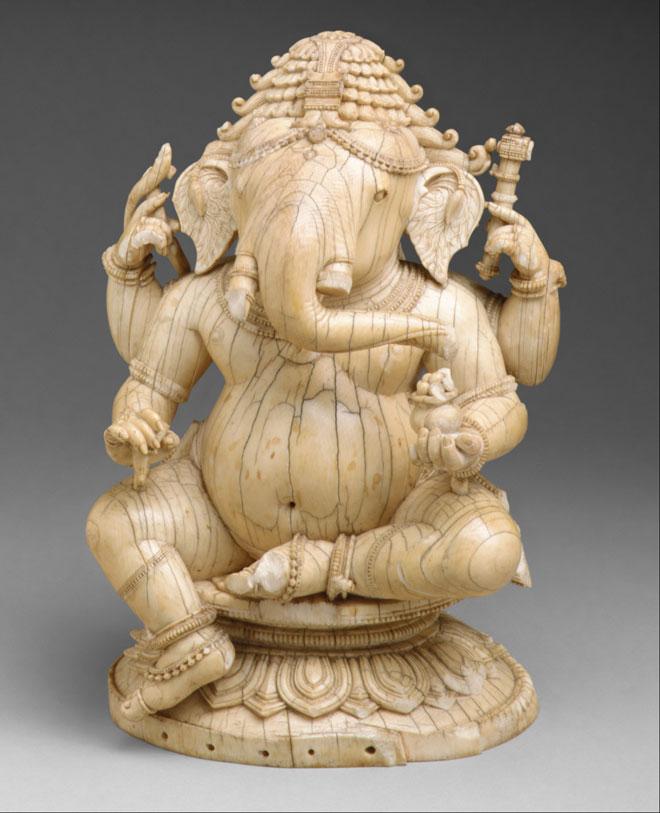 Ganesh, sculpture en ivoire © Metropolitan Museum