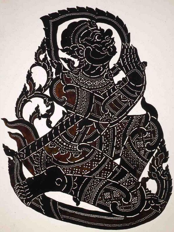 Marionnette du théâtre d'ombres représentant un démon © Ethnologisches Museum, Staatliche Museen zu Berlin