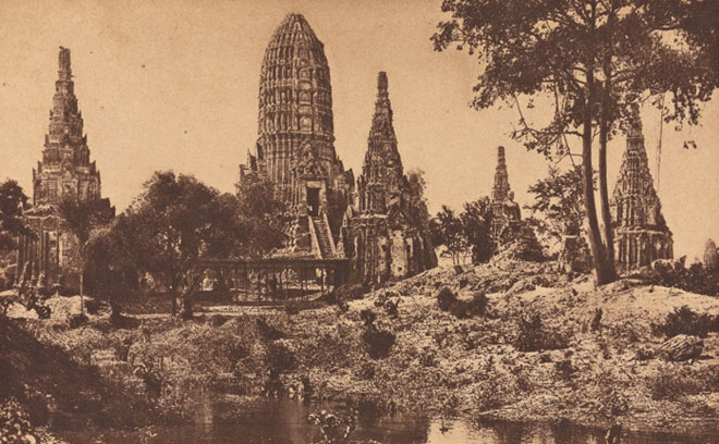 Ruines d'Ayutthaya © NY Public Library, digital collections