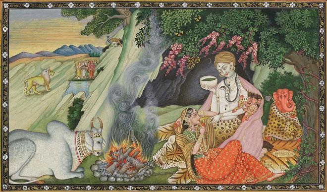 Shiva, Parvati et Ganesh © Museum of Fine Arts, Boston