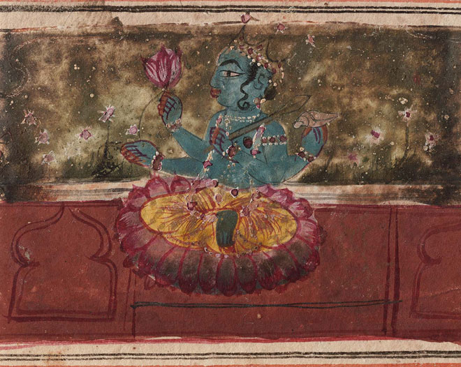 Vishnu assis sur des lotus © Museum of Fine Arts, Boston